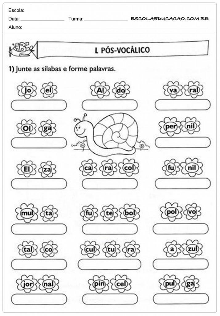 Well-known Atividades de Português para o 2º ano - Para Imprimir FN46
