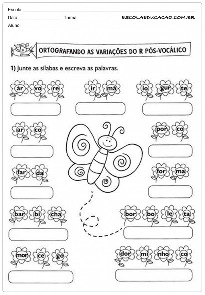 Atividades de Português 2º ano - Variações do R
