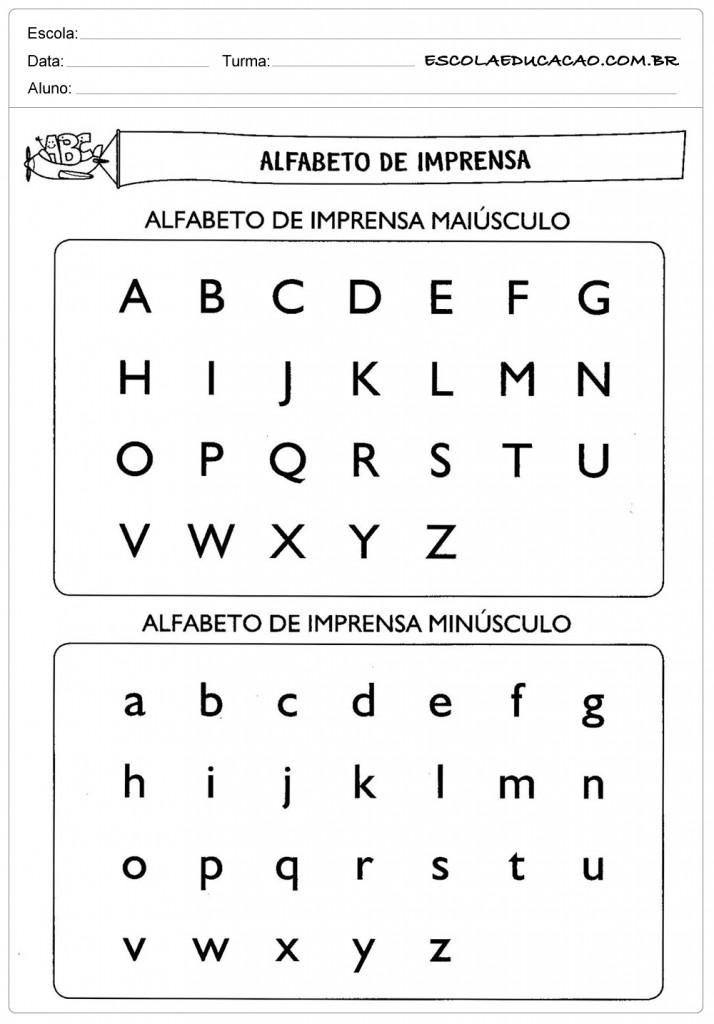 Atividades de Português 3º ano - Alfabeto de Imprensa