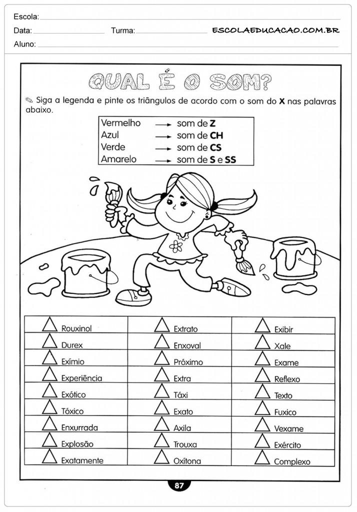 Atividades de Português 5º ano - Som das palavras