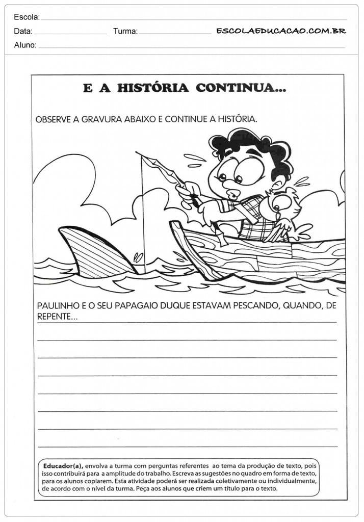 Atividades de Produção de Texto 2º ano - A História Continua