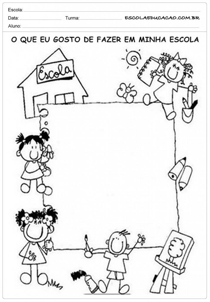 Atividades de Volta as Aulas - O que eu Gosto de Fazer