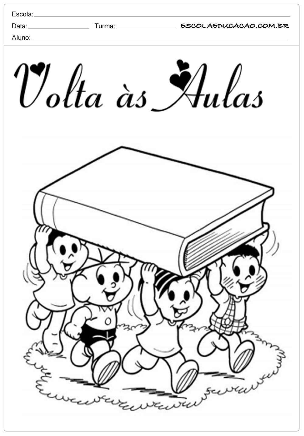 Atividade de Volta as Aulas – Turma da Môcica