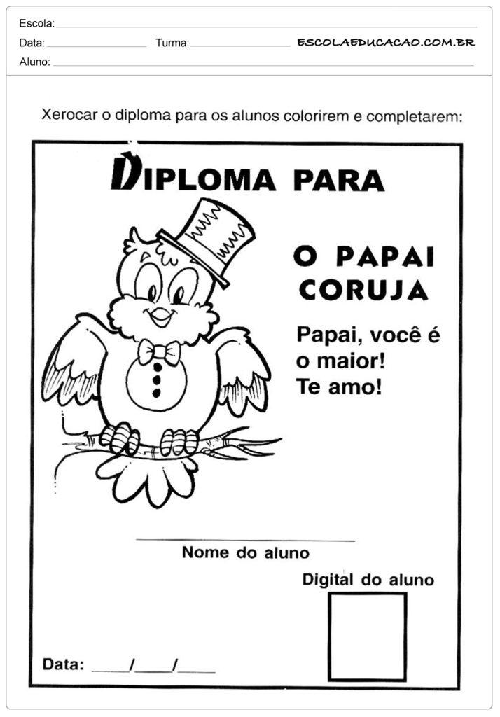 Atividade Dia dos Pais - Papai coruja
