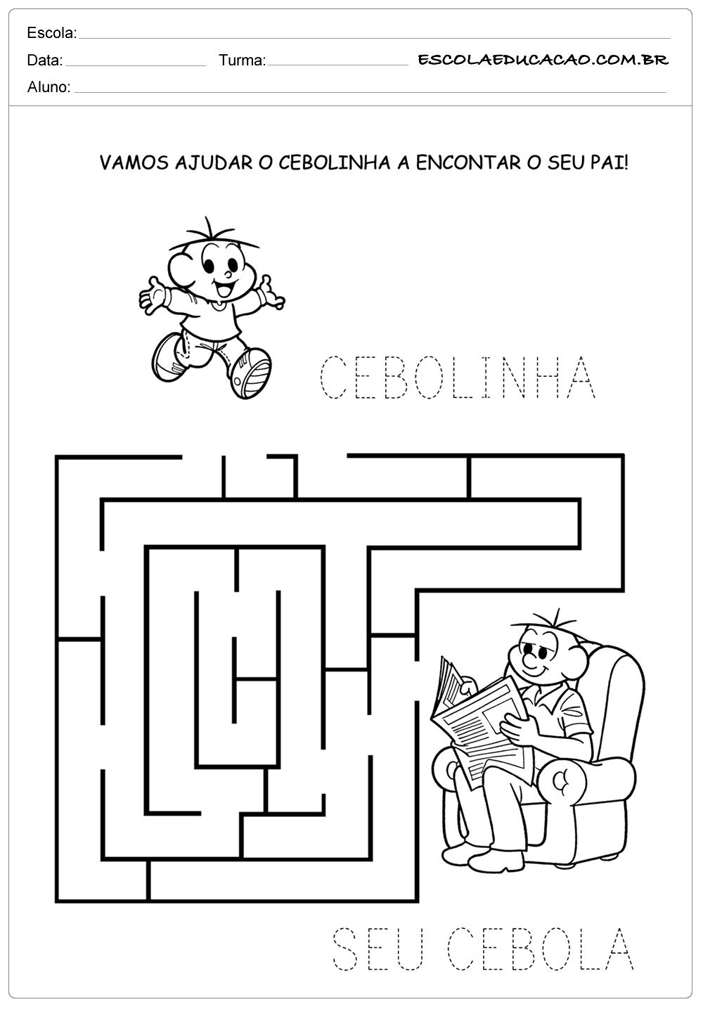 Atividade Dia dos Pais – Labirinto