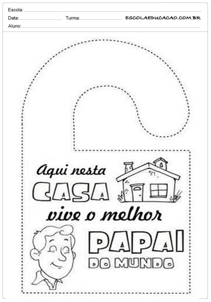 Atividade Dia dos Pais - Melhor pai do mundo