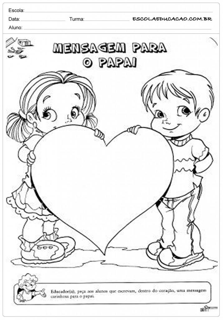 Escrever Mensagem para o dia dos Pais