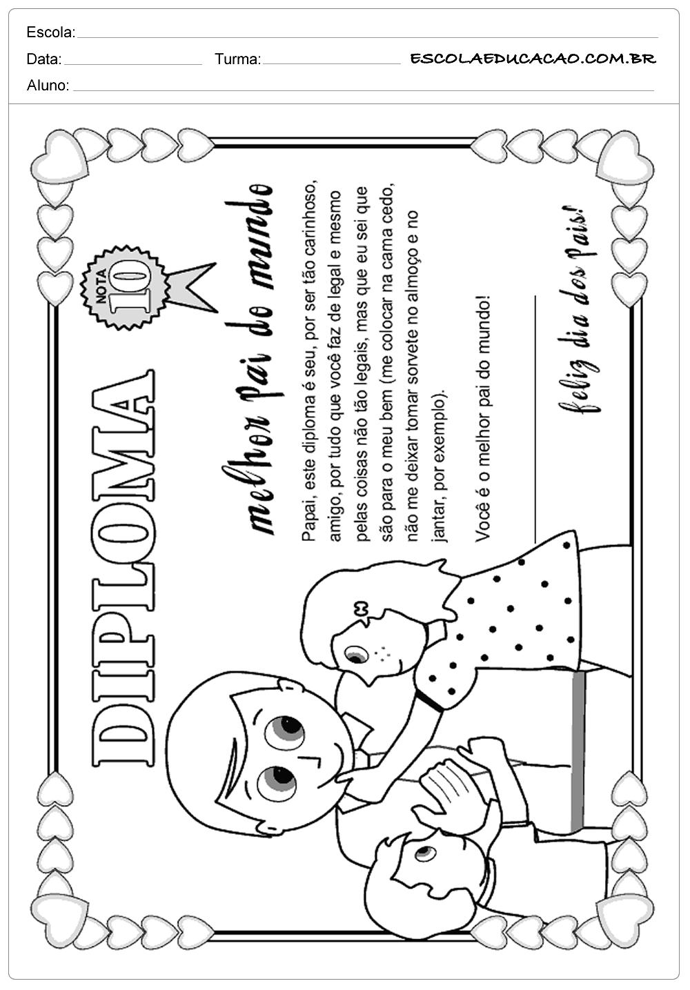 40 Atividades e Mensagens para o Dia dos Pais para Imprimir f2c353f96b8