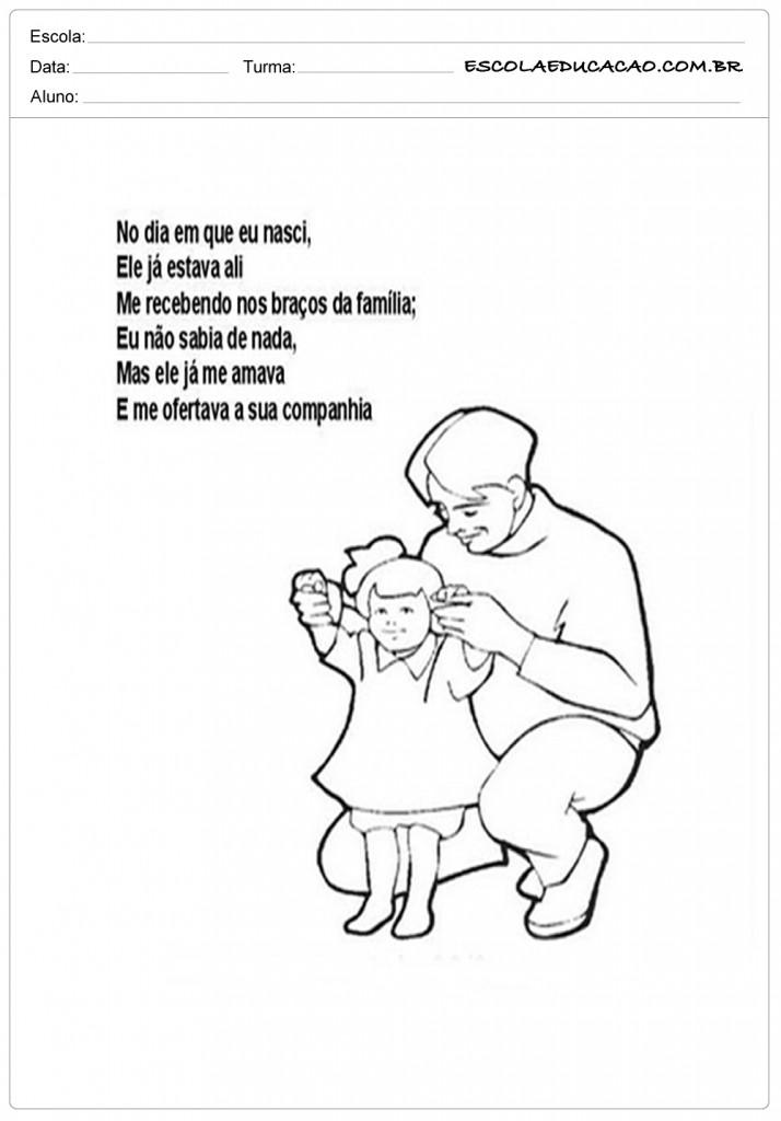 Amado 40 Atividades e Mensagens para o Dia dos Pais para Imprimir TO33
