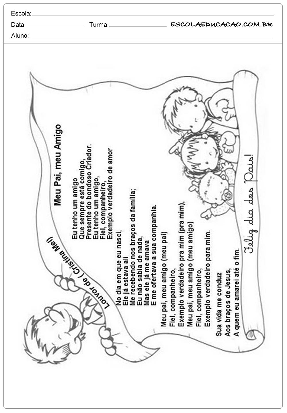 Poema para o dia dos pais