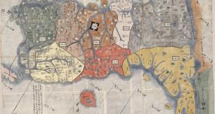 Mapa- a Coreia pintado no seculo XIX