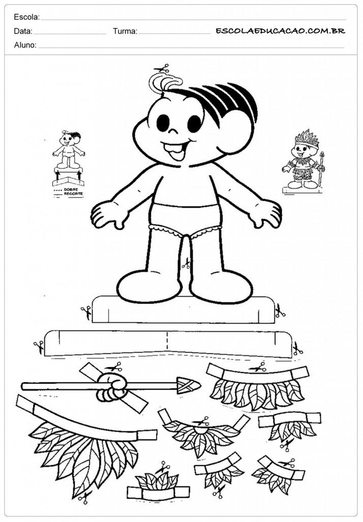 Atividades Dia do Índio - Para Imprimir - Escola Educação