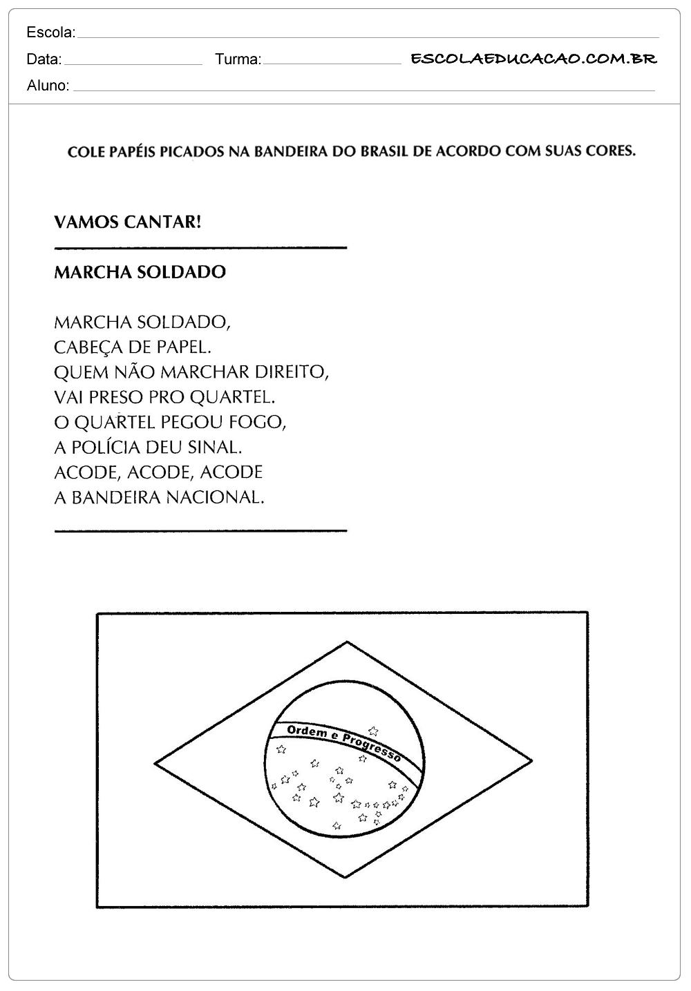 Atividade Independência do Brasil – Colorindo