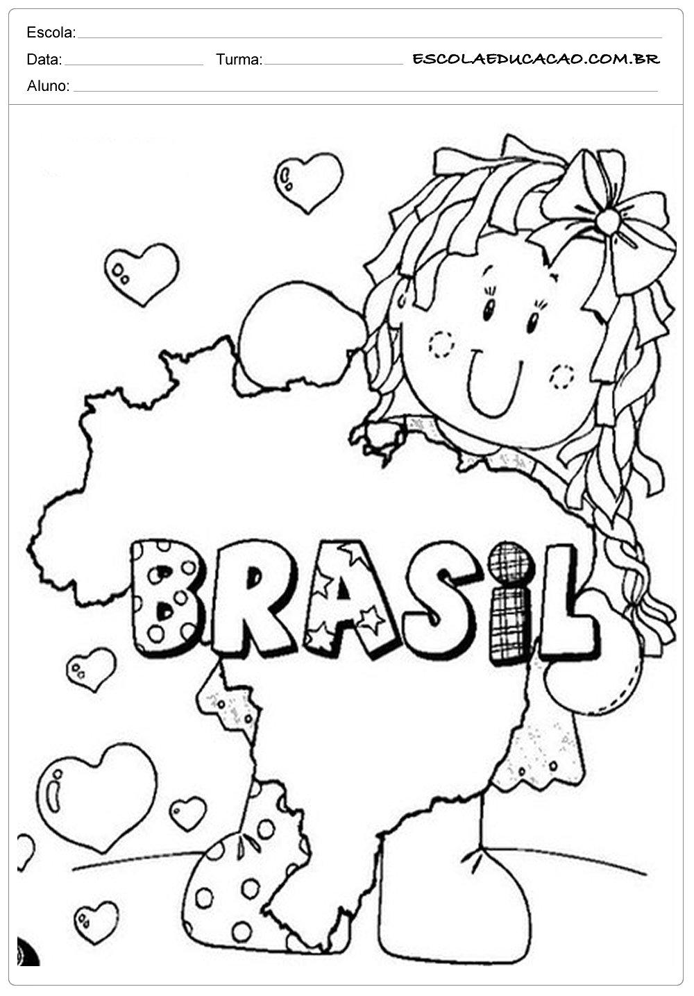 Atividade Independência do Brasil – Pinte a Bonequinha