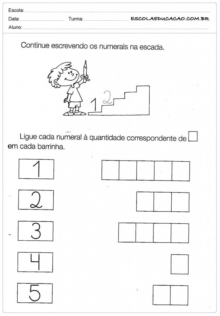 Atividades com Numerais - Escrevendo os Numerais