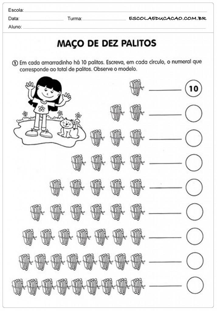Famosos As Melhores Atividades com Numerais para Educação Infantil GM97