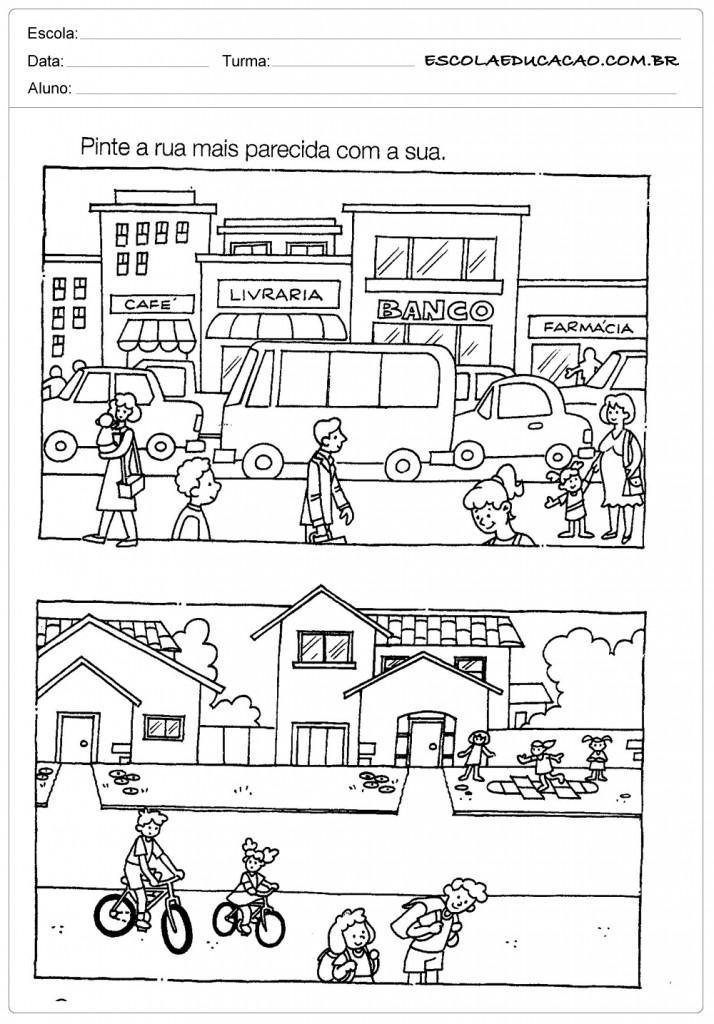 Atividades de Geografia - Pinte a Rua