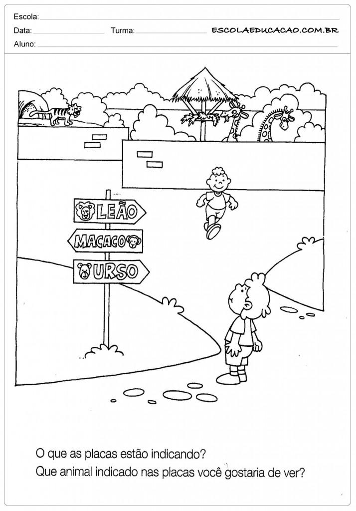 Atividades de Geografia - Zoológico