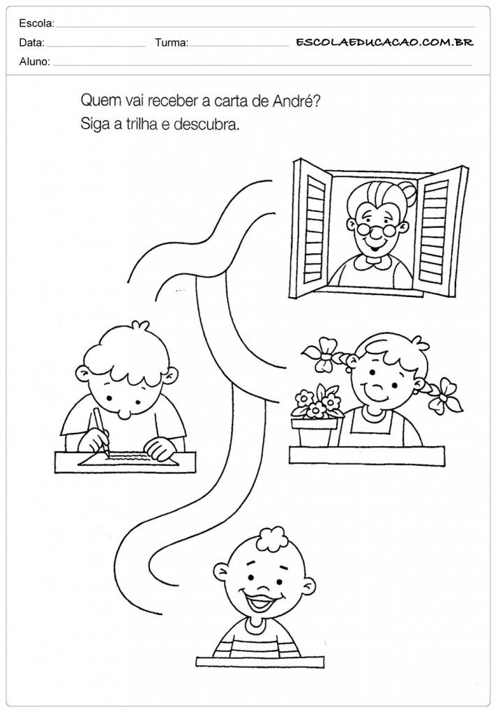 Atividades de História para Educação Infantil - A Carta