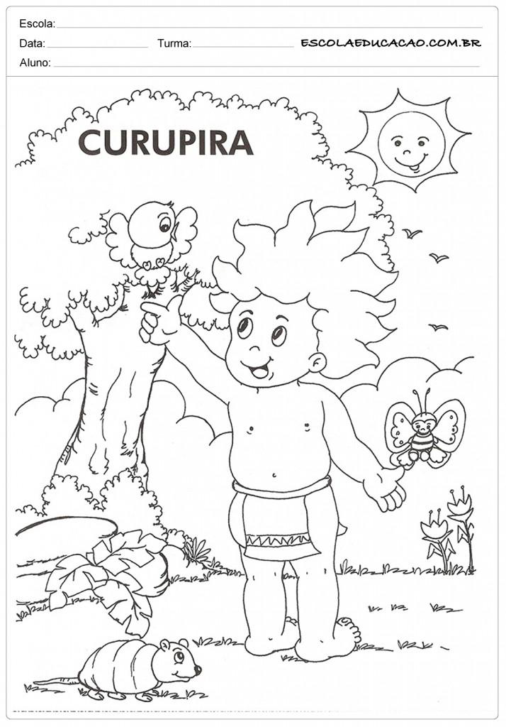 Atividades de Folclore Educação Infantil - Curupira