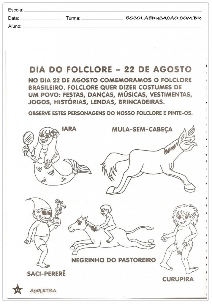 Atividades de Folclore Educação Infantil - Dia do Folclore