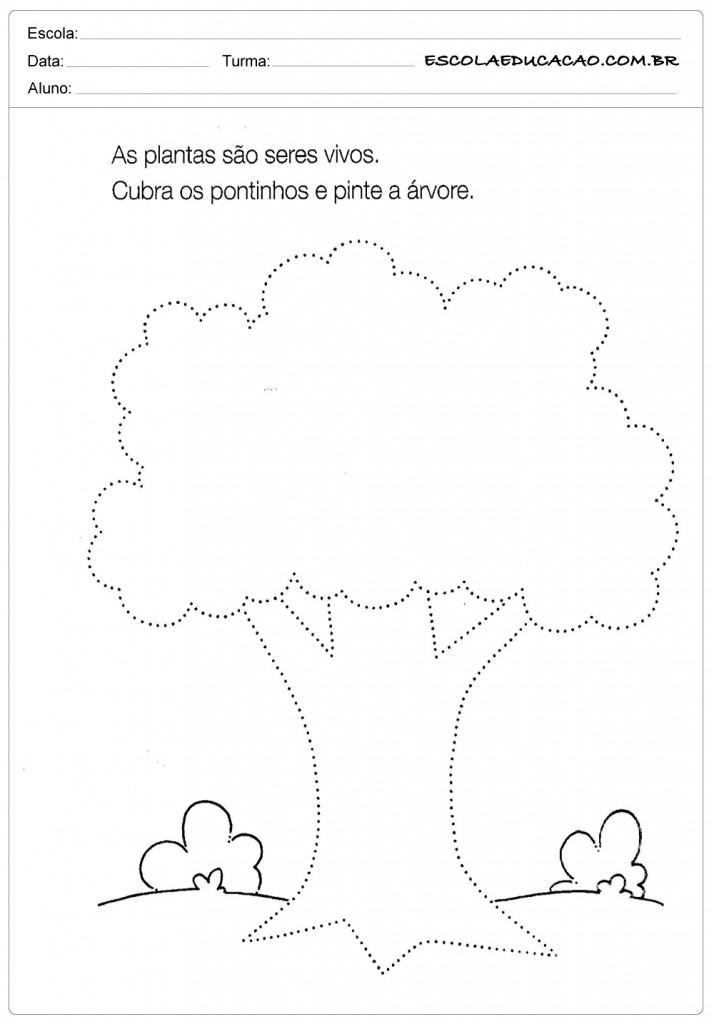 Atividades Pontilhadas - Árvore