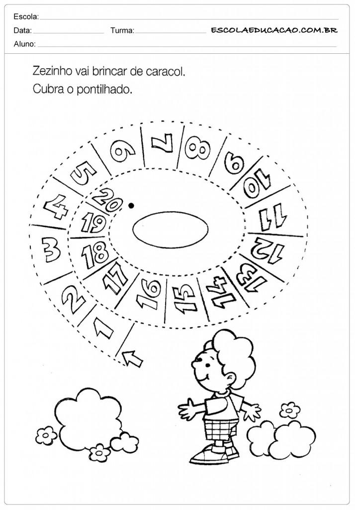 Atividades Pontilhadas - Caracol