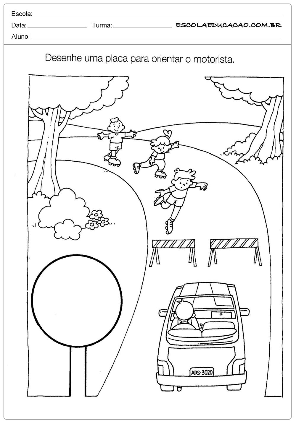 Muitas vezes Atividades sobre o Trânsito - Orientando o Motorista - Escola Educação XO19