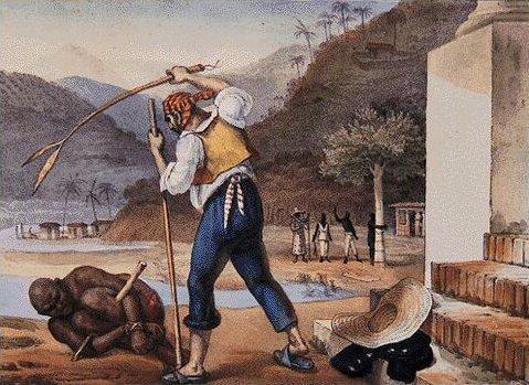 Escravo sendo açoitado