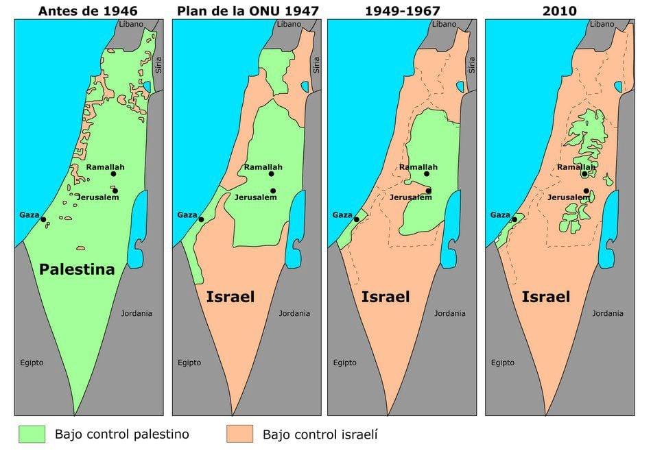 Resultado de imagem para avanço israelense sobre territórios palestinos