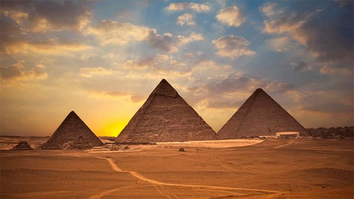 A Grande Pirâmides de Gizé