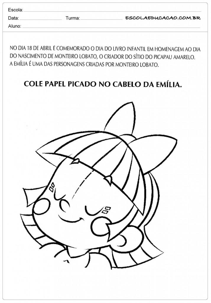Atividades Dia do Livro Infantil - Cabelo da Emília