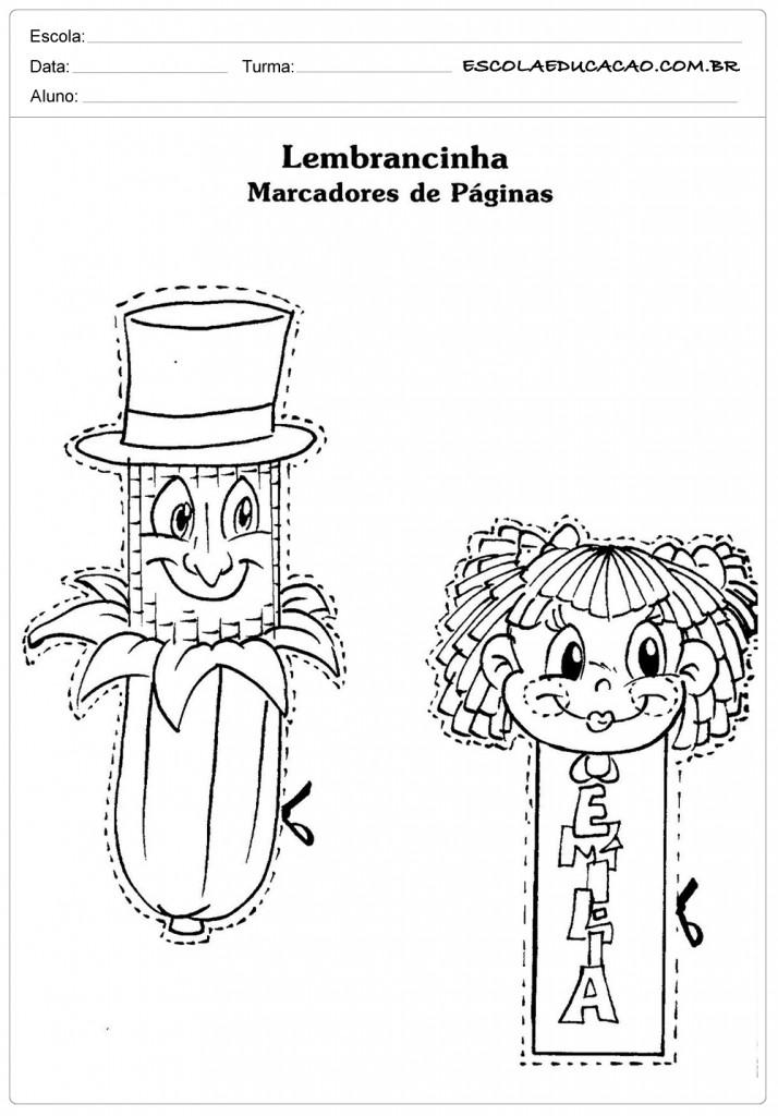 Atividades Dia do Livro Infantil - Lembrancinhas de Marcadores de Páginas