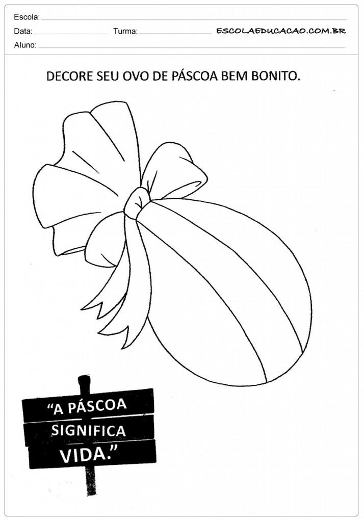 Atividades de Páscoa - Decore seu Ovo de Páscoa