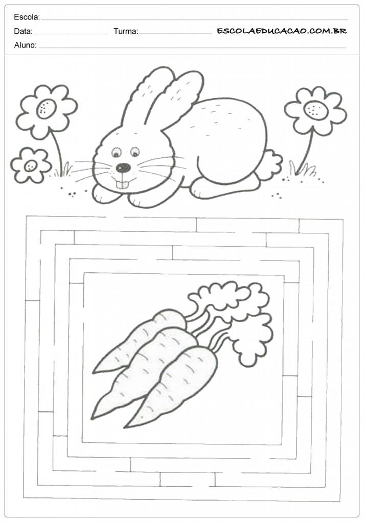 Atividades de Páscoa - Labirinto