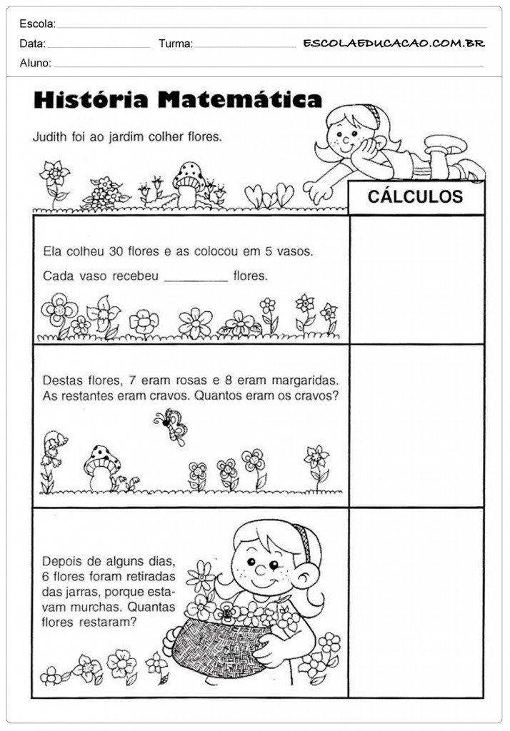 Atividades de Somar e Subtrair História da Matemática