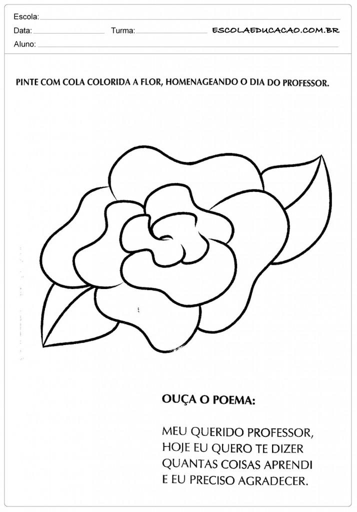 Atividades para o Dias dos Professores - A Flor