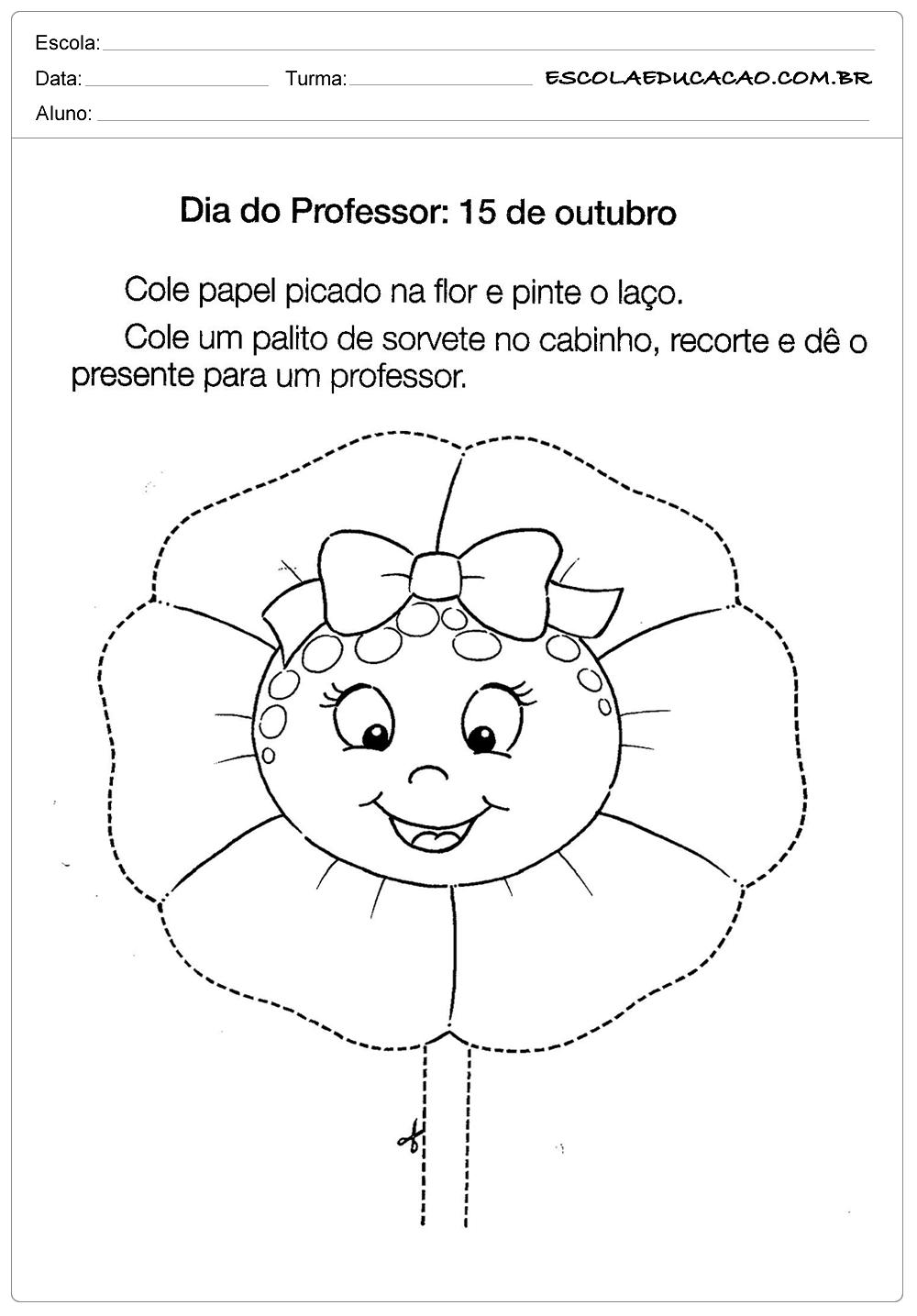 Atividades para o Dias dos Professores – Presente para Professores