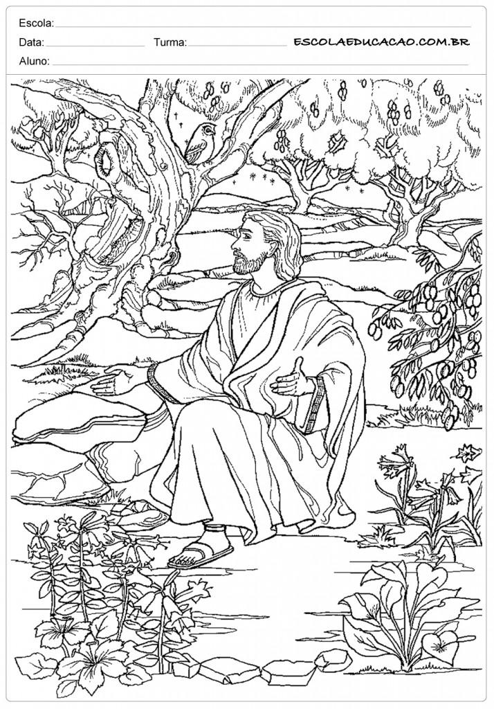 Jesus no jardim