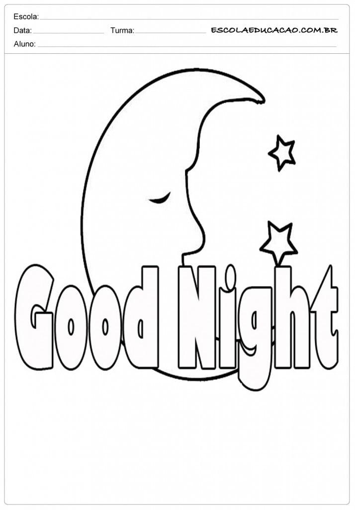 Ensinar Boa Noite em Inglês