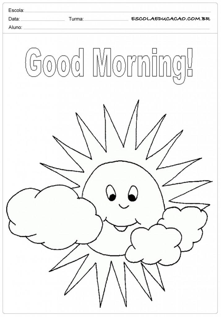 Ensinar Bom Dia em Inglês