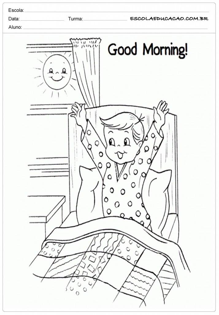 O Que é Good Morning Everyone Em Portugues : Atividades de inglês para ensino fundamental séries iniciais