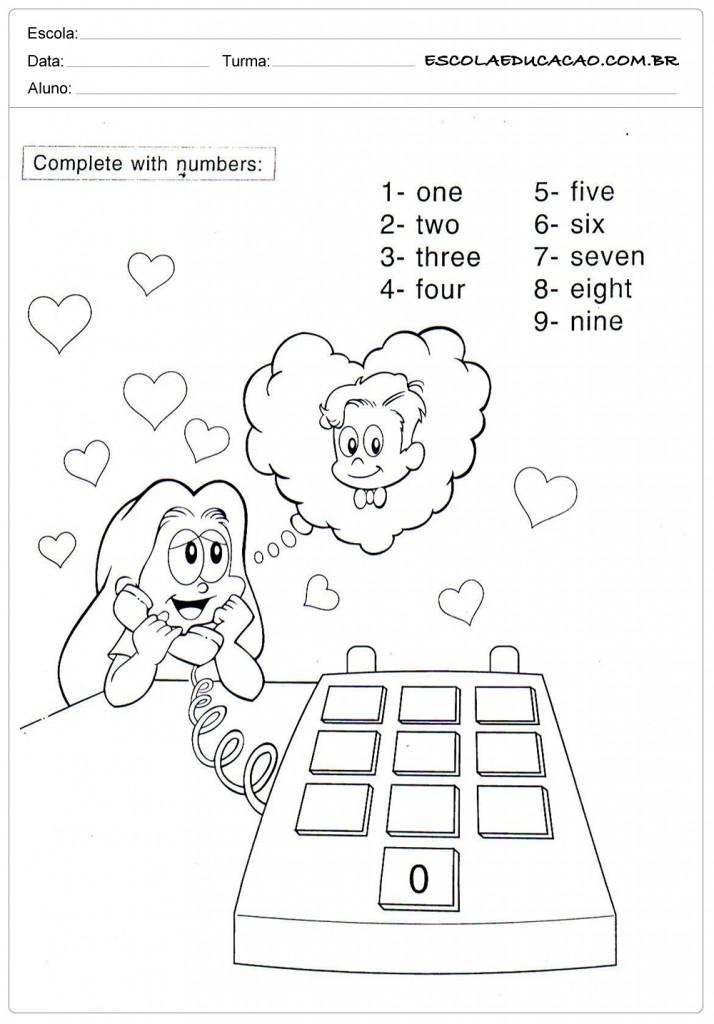 Ensinar números em inglês