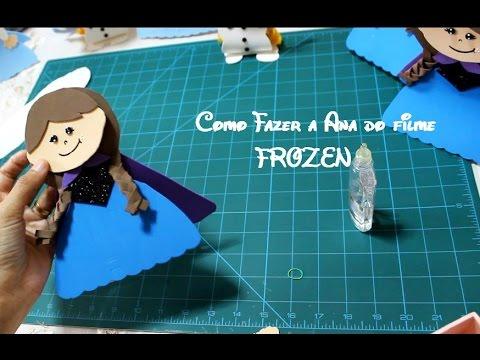 Lembrancinha frozen Ana e Elsa em EVA