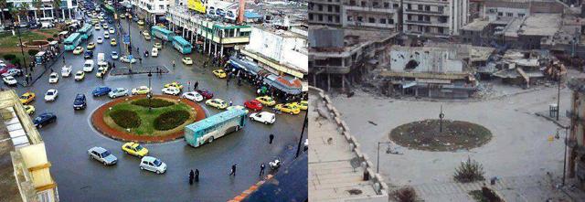 Siria antes e depois