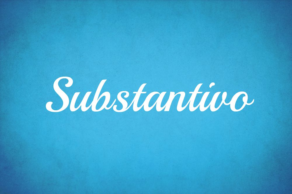 O Substantivo