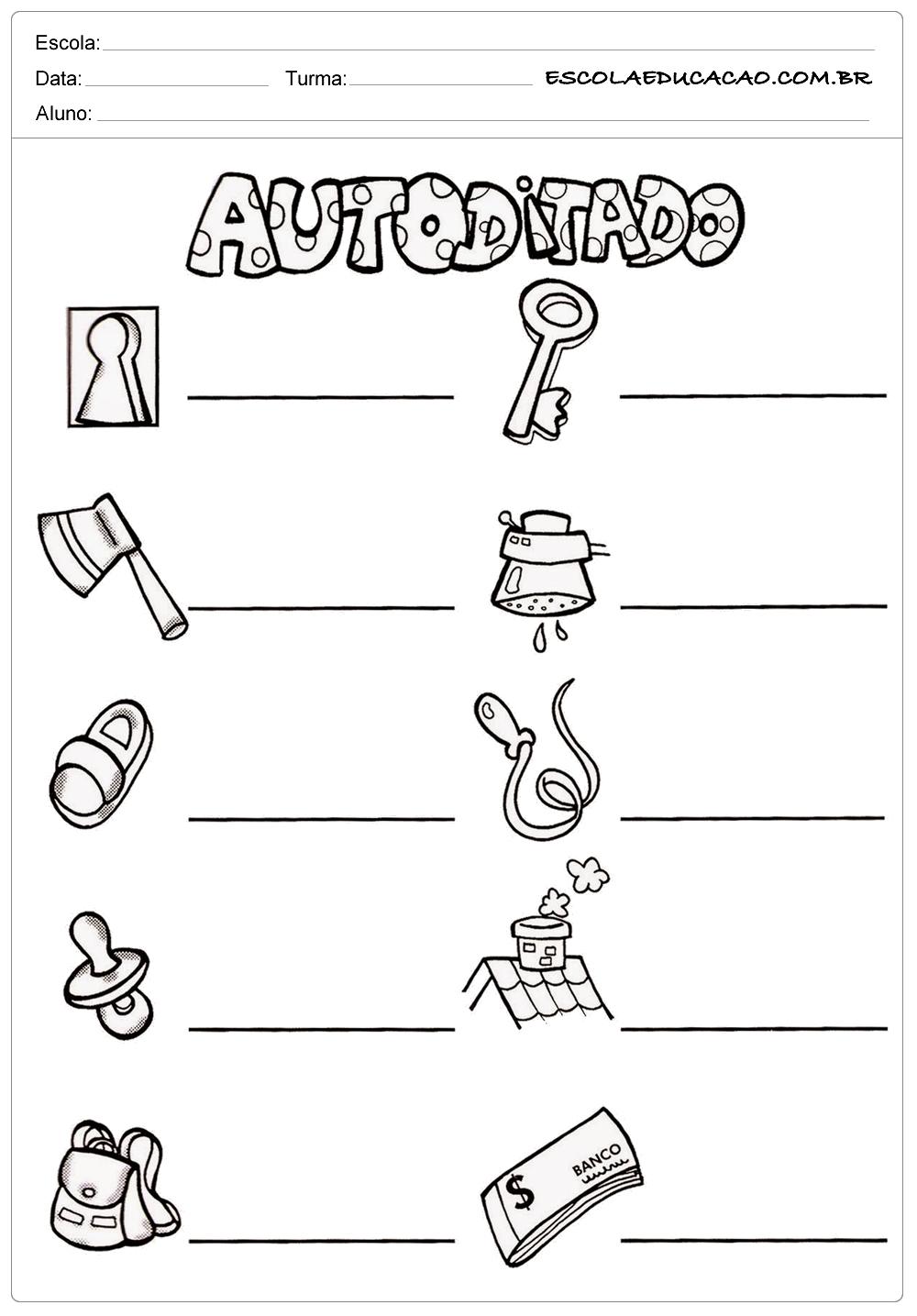Escreva os Nomes – Atividades com CH