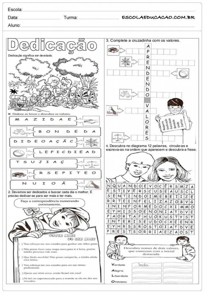 Conhecido Atividades de Ensino Religioso 8º ano - Para Imprimir UZ52