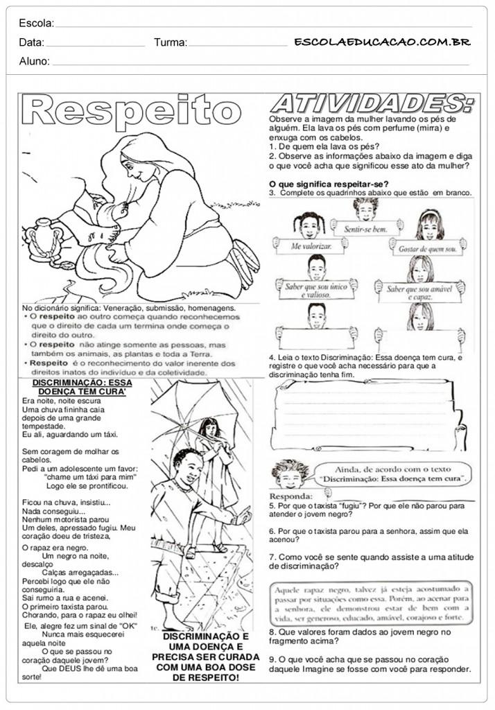 Conhecido Atividades de Ensino Religioso 4º ano - Para Imprimir QX93