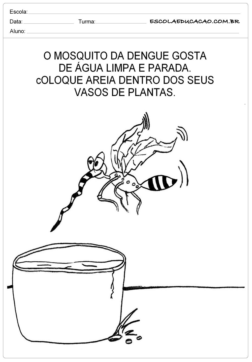 Mosquito da Dengue – Atividades sobre a Dengue